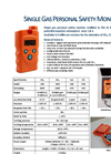 SAFIR-SAFTOX - Single Gas Personal Safety Monitors Brochure