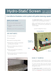 Hydro-Static Screen Up Flow Static CSO Screening System Flyer Brochure