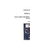 IC Controlc - Model 876-25 - Total Free Chlorine & pH Analyzer With Sample Panel User Manual
