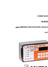 IC Controls - Model 855 - ppm Dissolved Oxygen Analyzer User Manual