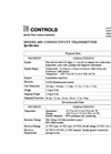 IC Controls - Model 453 - Two-Wire Conductivity Transmitter Specifications