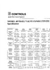 IC Controls - Model 403 - Ball Valve Conductivity Sensor Specifications