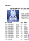 IC Controls - Model cond-std - Conductivity Standards Specifications