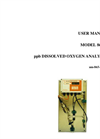 IC Controls - Model 865-25 - ppb Dissolved Oxygen Analyzer with Sample Panel User Manual