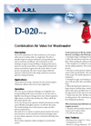 Model D-020 | - Combination Air Valve for Wastewater Brochure