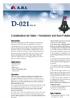 Model D-021 - Combination Air Valve for Reclaimed and Non-Potable Water Brochure