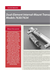 Accusonic - Models 7630/7634 - Dual-Element Internal-Mount Transducers Brochure