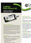 Cretex - Model Fast-Grout 52™ - Chemical Grouts - Tech Data Sheet