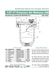 Low Capacity Pressure Air Release Valve AR Series- Brochure