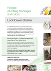 Lock Down Floor Strainer Brochure