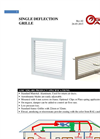 Model SDG-001 - Single Deflection Grille Brochure