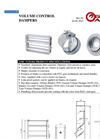 Model VCD-041 - Volume Control Damper Brochure