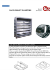 Model BDD-042 - Back Draft Damper Brochure
