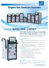 DeNOx Mini-Cabinet Engine Gas Analysis Systems Brochure