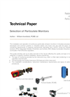 Technical Paper - Selection of Particulate Monitors