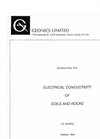 Electrical Conductivity of Soils and Rocks - Technical Note