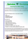Swimming Pool Water Testing Analysis