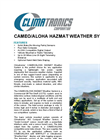 CAMEO/ALOHA Hazmat Weather System Data sheet