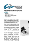 Model 102176-G0 - Recording Rain Gauge - Brochure