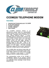 Climatronics - Model CCOM220 - Telephone Modem - Brochure
