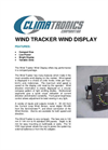 Climatronics - Wind Tracker Wind Display - Brochure
