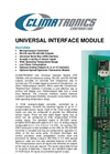 Climatronics - Model P/N 102489 - Universal Interface Module - Brochure