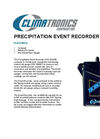 Precipitation Event Recorder Datasheet
