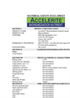 Accelerite - Bioremediation Nutrient – MSDS