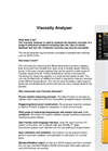 Model VO - Viscosity Analyser System Brochure