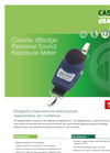 Casella dBadge Personal Sound Exposure Meter - Datasheet