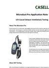 LEV (Local Exhaust Ventilation) Testing - Microdust Pro Application Note