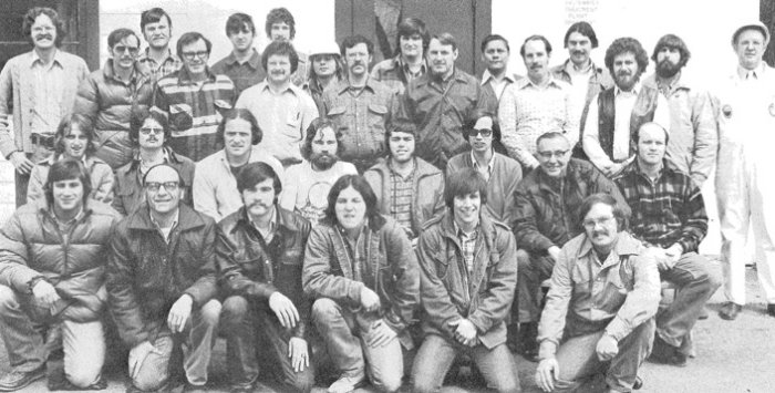1975: Students pose for a graduation photo after completing a nine-month program at NEIWPCC's New England Regional Wastewater Training Institute.