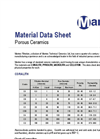 Material Data Sheet Porous Ceramics