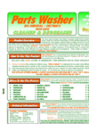 Parts Washer - Aqueous Based Bio Remedial Solution  Brochure