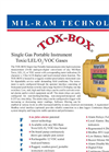 Mil-Ram - Tox-Box Single Gas Portable Area Monitor - Literature