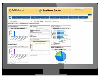 Field Force - Reports & Dashboards Field Service Software