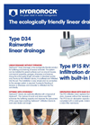 Model D34 - Rainwater Linear Drainage System Brochure