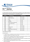 Model KL Series - Powder Membrane Cleaners Brochure
