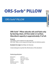 ORS-Sorb - Pillow Absorbs Oils and Fuels Datasheet