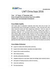 UWT China Expo 2016 Invitation Brochure