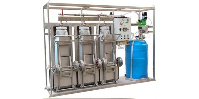 Sludge Dewatering Plant with Filtration Bags