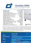 OmniAire - Model 2000C - HEPA Air Filtration Machine - Datasheet