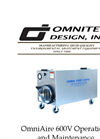 OmniAire - Model 600V - HEPA Air Filtration Machine - Operations and Maintenance Manual
