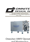 OmniAire - Model 1000V - HEPA Air Filtration Machine - Operations and Maintenance Manual