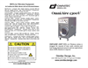 OmniAire - Model 1300V - HEPA Air Filtration Machine Manual
