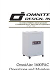 OmniAire - Model 1600PAC - HEPA Portable Air Cleaner - Operations and Maintenance Manual