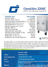 OmniAire - Model OA2200C - HEPA Air Filtration Machine - Datasheet
