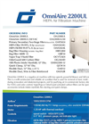 OmniAire - Model OA2200UL - HEPA Air Filtration Machine - Datasheet