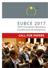 EUBCE 2017 25th European Biomass Conference & Exhibition - Call for Papers