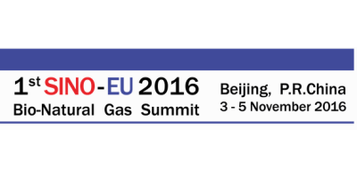 1st SINO-EU Bio-Natural Gas Summit 2016
